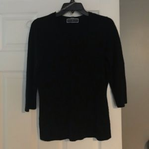 Karen Scott V-neck Black sweater
